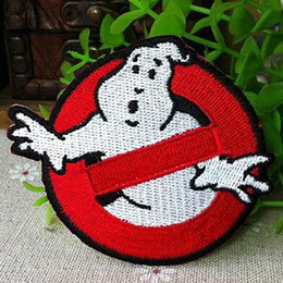Wholesale Ghostbusters No Ghosts Logo Screen Accurate Embroidered Iron on Patch Badge Applique