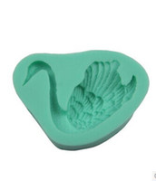 Set CE / EU ECO Friendly Swan Fondant Chocolate Candy Jelly Cake Silicone Mold Baking Soap Mould Sugarcraft Toos Cake Decoration Cheap Wholesale