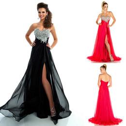 Wholesale Modo De Vestidos De Fiesta Con corset Para Strapless Beads Chiffon Hot Pink Black Front Side Celebrity Prom Cocktail Evening Dresses
