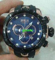 Wholesale Promotion New Brand invicta Mens Black and Rose Gold Venom Gen II Made Quartz Chrono Rubber Strap Watch
