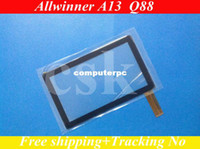 Wholesale Ref A13 A10 Q8 Q88 quot inch LCD touch screen digitizer touch panel glass for Tablet