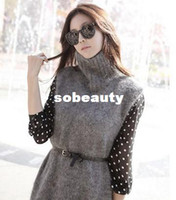 Casual Dresses Strapless A Line Korea stylenanda winter turtleneck knit dress with long sleeves wholesale Polka Dot 2003