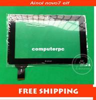 Wholesale NEW Ainol novo7 elf II Novo elf2 elf Capacitive touch screen digitizer touch panel glass code