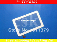 Cheap Wholesale-(Ref:TPC0509 )7 inch compacitance LCD touch screen touch panel glass for Ampe A78 Sanei N78 Tablet white