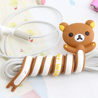 Wholesale The new Q version of the cartoon animal headed creative home router cable management reel
