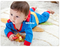 Wholesale Baby Romper Superman Long Sleeve Baby Dress Smock Infant Romper Halloween Costume retail