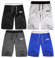Shorts Unisex Classic Straight Free shipping 2014 new Lovers Casual sports FUCK personality tide tide men's bad student movement Cock silk pants blended summer fiv 8Colors
