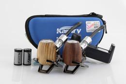 Wholesale Original Kamry Wooden epipe k1000 Electronic Cigarette wood epipe k1000 kit with Battery K1000 Tank Atomizer Huge Vapor ePipe K1000