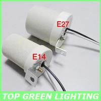 Wholesale 5 x Ceramic Lamp Base E14 Lamp Holder for Light Bulb E14 Light Socket Ceramic Base Ceiling Mounted Lamp Socket