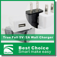 Wholesale For Galaxy S6 Wall Charger Travel Adapter V A Home Plug For Samsung Galaxy S5 NOTE LG HTC Huawei True Full High Quality US EU Plug