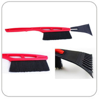Ice Scraper Ice Scraper 0 Free Shipping Long-handled shovel with a brush icing car snow shovel removal Defrost snow ice #S0532