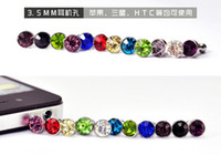 Wholesale Rhinestone diamond dust plug plug plug Generic Samsung HTC headset dust plug