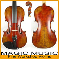 Wholesale SELECTED Copy of Stradivarius violin professional handmade violin with free violin bow case rosin