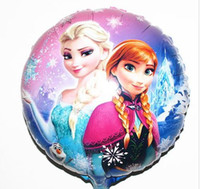 Wholesale New cm Frozen Cartoon bubble balloon party decoration foil Aluminium Coating balloons