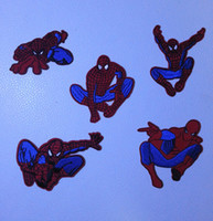 Wholesale Cartoon Spiderman PT023 Embroidered Ironing Sewing Applique Iron on Patches