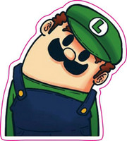 Wholesale New Crooked neck Mario wall stickers home decor PVC stickers Waterproof party decorations Laptop ipad car stickers