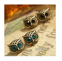 Wholesale Big discount B058 Fashion restore ancient ways the owl Stud earrings