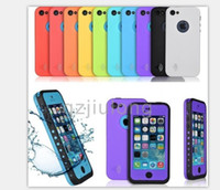 For Apple iPhone Plastic White For iPhone 5 5S Waterproof Case Redpepper Water proof Case for iPhone 5C Waterproof Seal Protects Shockproof Cases Accept Customized Design