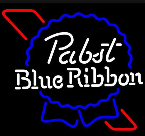 New Pabst Blue Ribbon Giass Neon Beer Sign Neon Signs #0: new pabst blue ribbon giass neon beer sign