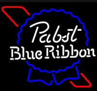 beer sign - New Pabst Blue Ribbon Giass Neon Beer Sign