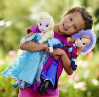 Wholesale In stock cheap frozen doll cm inch frozen elsa anna toy doll action figures plush toy frozen dolls