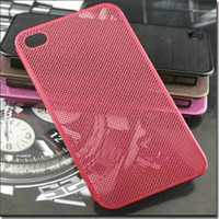 Wholesale Ultrathin Titanium steel mesh Matel case for iphone s g Original OYO aluminum cover for iphone4s hard back