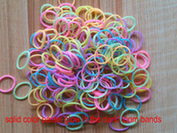 Cheap 500 BAGS 300 PCS BAG new solid color glow in the dark US rainbow loom bands DIY bracelet colorful loom bands