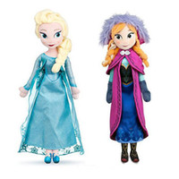 Wholesale 2016 New cm Frozen Doll Princess Elsa Anna Plush Doll Toys for Children Baby Kids Toys Action Figures Frozen Plush Toys Boneca Frozen
