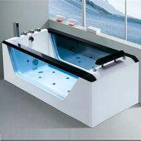 Wholesale freestanding bathtub Hanbeisha acrylic massage bathtub hot tub tubs bath tub bath pillows bubble bath whirlpool YB