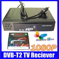 PVRs DVB-S Yes Wholesale-1080P Full HD Digital Terrestrial Receiver Tuner DVB-T2 DVB T TV Set Top Box Tuner MPEG4,MPEG-2 H.264,Support Russian Menu+HDMI