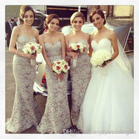 Reference Images Lace Sleeveless 2014 Cheap Sexy Sweetheart Floor Length Lace Bridesmaid Dresses Applique Mermaid Prom Gowns BO3839