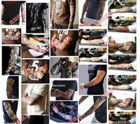 Wholesale Men Tattoo Printed Best Sunscreen Oversleeve Bicycle Cycling Snowboard Motorcycle Ski UV resistant Arm Sleeve Mixed