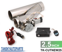 Wholesale Universal quot EXHAUST CATBACK TURBO ELECTRIC E CUTOUT Y PIPE WITH REMOTE TK CUTNEW25