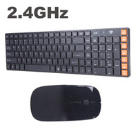 Wholesale 2 G Wireless Multimedia Optical Wireless Keyboard Mouse Combo Kit for PC Laptop Black