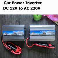 Wholesale 100W W DC V to AC V Car Auto Power Inverter For Notebook Computers Mobile Phones MP4 iPod Adapter Converter USB DC V Free DHL