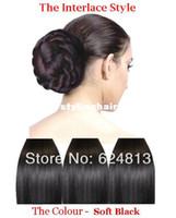 Wholesale Clip In Hair Extension Pony Tail Extension Hairpiece Clip In Bun Premium Qulity blond dark brown black