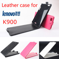 Cheap Free shipping Lenovo K900 Case High Quality PU Filp Leather Cover for Lenovo K900 promotion price