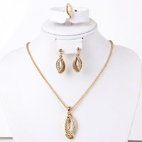 Bracelet,Earrings & Necklace Celtic Women's New coming high quality fashion costume necklace set 3pcs elegant african dubai Laser gold plated party gift jewelry sets