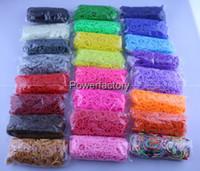 Cheap 24 colors Rainbow Loom Kit DIY Wrist Bands Rainbow Loom rubber Bracelet Twistz for kids (600 pcs bands + 24 pcs S or C-clips )
