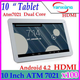 Wholesale DHL inch Android Tablet PC ATM7021 Dual Core GHz Screen MB RAM GB ROM WiFi Camera HDMI YX MID