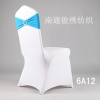 Wedding Chair 100% Cotton Nantong Chun embroidered textiles Special red diamond drill new elastic strap buckle wedding chair decoration wedding chair cover decoration