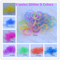 Unisex 8-11 Years Multicolor 2014 hot 95 colors choice Solid Jelly Glitter Transparent Rainbow Loom Refill Rubber Bands Rainbow Loom Bracelet refill (600 bands+24 clips)