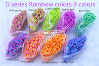 Unisex 8-11 Years Multicolor Hot 95 colors choice Solid Jelly Glitter Transparent Rainbow Loom Refill Rubber Bands Rainbow Loom Bracelet refill (600 bands+24 clips)