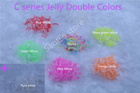 Unisex 8-11 Years Multicolor Crystal Jelly Noctilucence Glow in the Dark Glitter Rainbow Loom Refill Rubber Bands Rainbow Loom Bracelet refill (600 bands+24 clips)