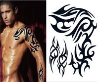al por mayor x 26-Venta caliente nueva favorable del tamaño grande de 26 x 22cm hombre impermeable instantánea pintar pegatina tatuaje temporal