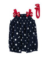 name brand baby clothes - Brand name N new design fashion baby girls cotton star rompers deaddress summer casual wear cute infant clothes