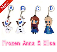 Wholesale Frozen Key Chains Soft Rubber Cartoon Anna Elsa Keychain pendant Kids gift