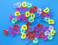 Cheap 500pcs C-Clips Connector Refills Rainbow Loom Rubber Bands Bracelet Making DIY