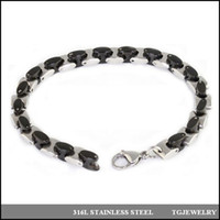 ID, Identification New Arrival anyone who like Hip pop chain men's heavy stainless steel bracelet two tone black plated