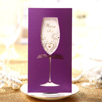 Wholesale Customized Wedding Invitation Hollow Out Goblet Style Personality Customization B13